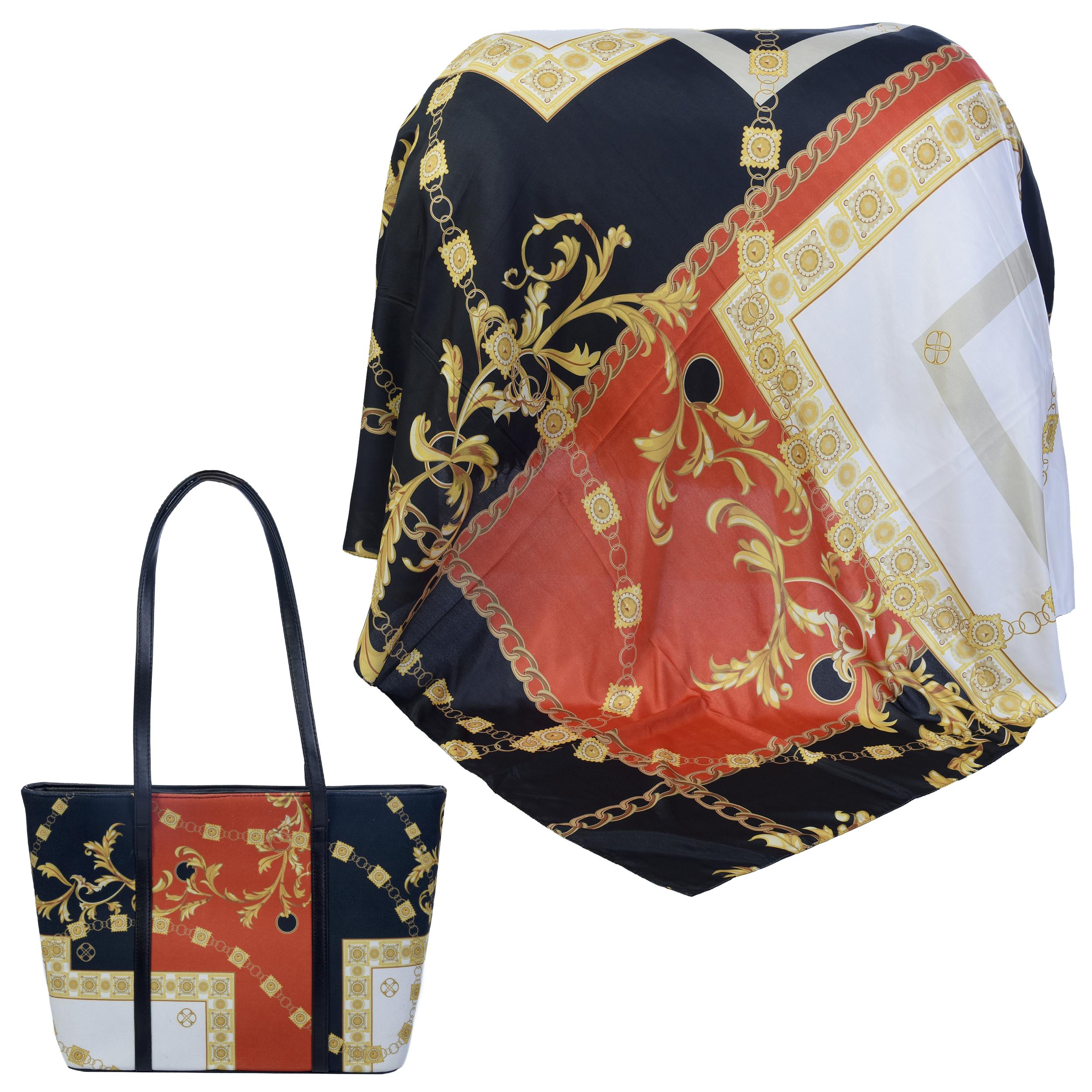 ست کیف و روسری زنانه کد 990216-T1
