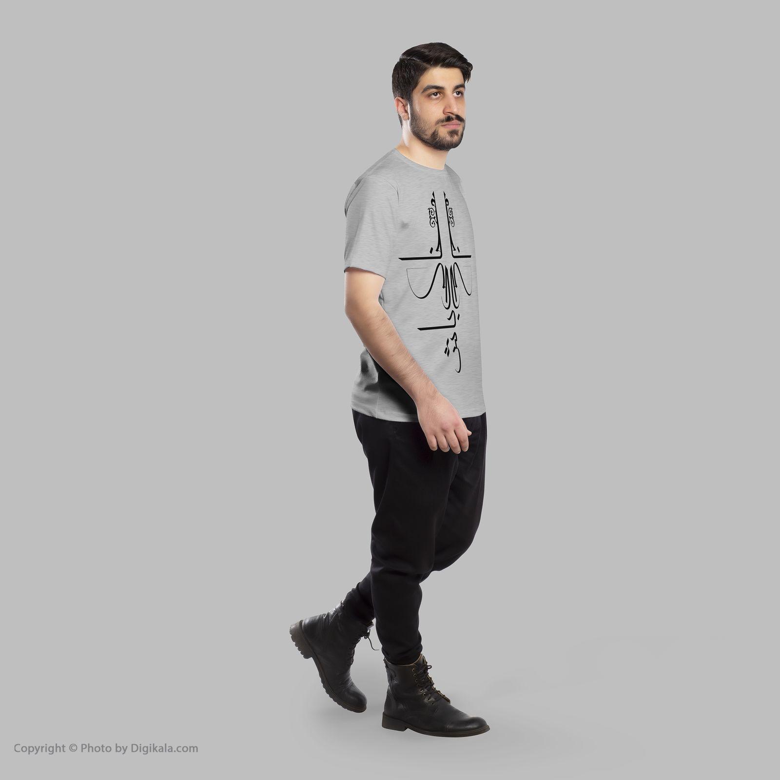 تی شرت مردانه 27  طرح خاکی باش کد B126 -  - 6