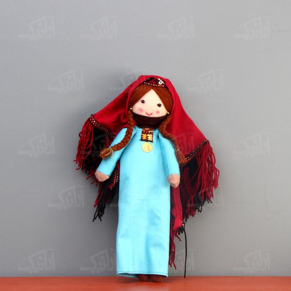 عروسک پارچه ای دست دوز  رنگ آبی طرح دویدوق مدل 1606800011