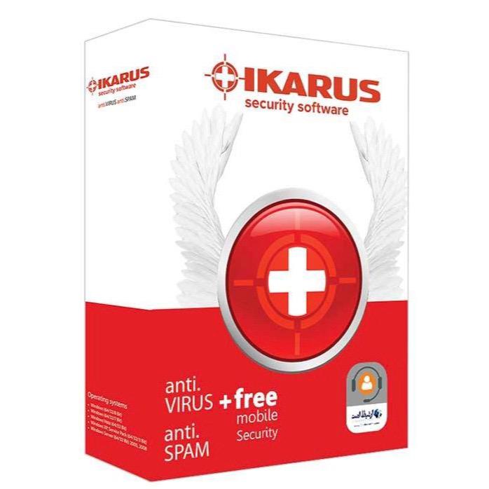 نرم افزار آنتی ویروس ایکاروس نسخه آنتی اسپم 2020 یک کاربره 1 ساله