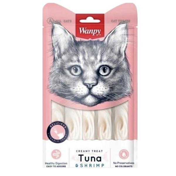 بستنی گربه ونپی مدل ماهی تن و میگو وزن 70 گرم