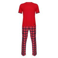 ست تی شرت و شلوار مردانه لباس خونه کد 991004 رنگ قرمز