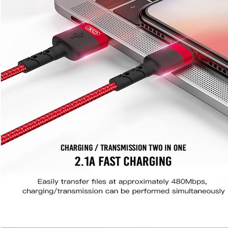 کابل تبدیل USB به microUSB ایکس او مدل NB 117 طول 0.25 متر