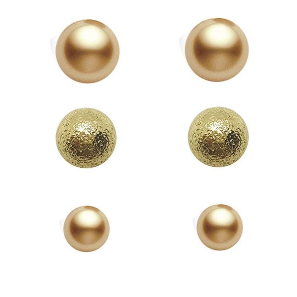 گوشواره زنانه آی ام مدل AL1071 مجموعه 3 عددی
