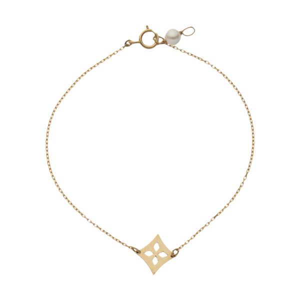 دستبند طلا 18 عیار زنانه نیوانی مدل DA2000