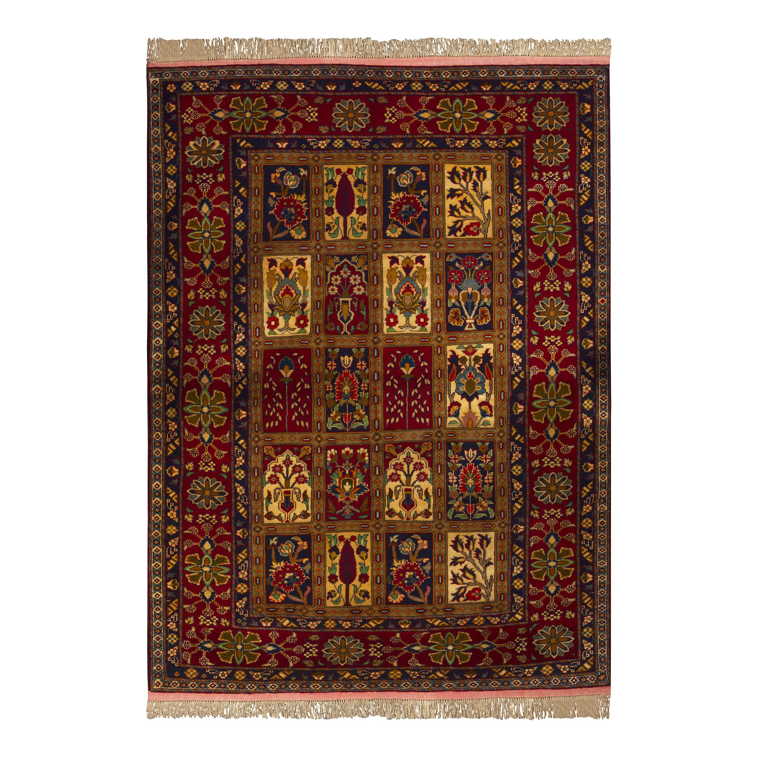 فرش دستباف دو و نیم متری طرح عشایری مدل H22