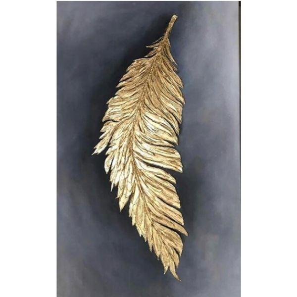 تابلو نقاشی ورق طلا طرح پر