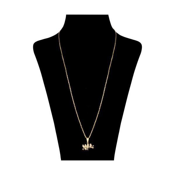 گردنبند طلا 18 عیار زنانه مدیسا مدل N2004