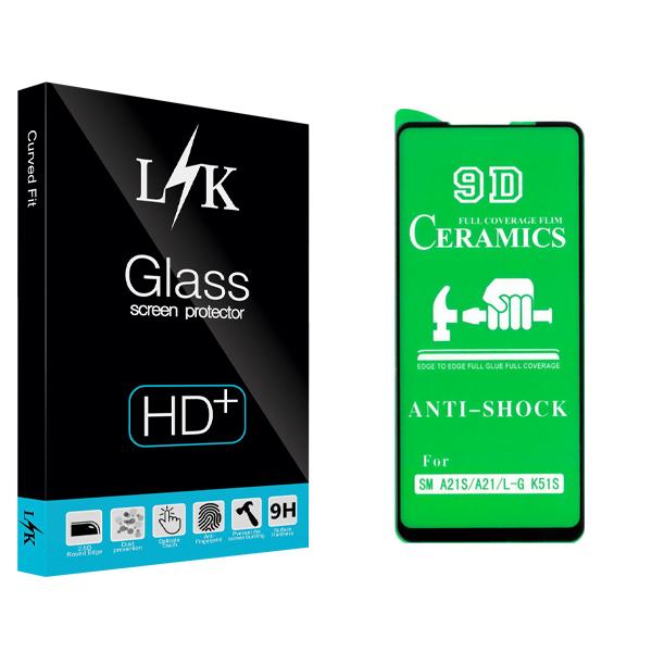 محافظ صفحه نمایش سرامیکی ال کی مدل +HD مناسب برای گوشی موبایل سامسونگ Galaxy A21s / A21 / ال جی K51S