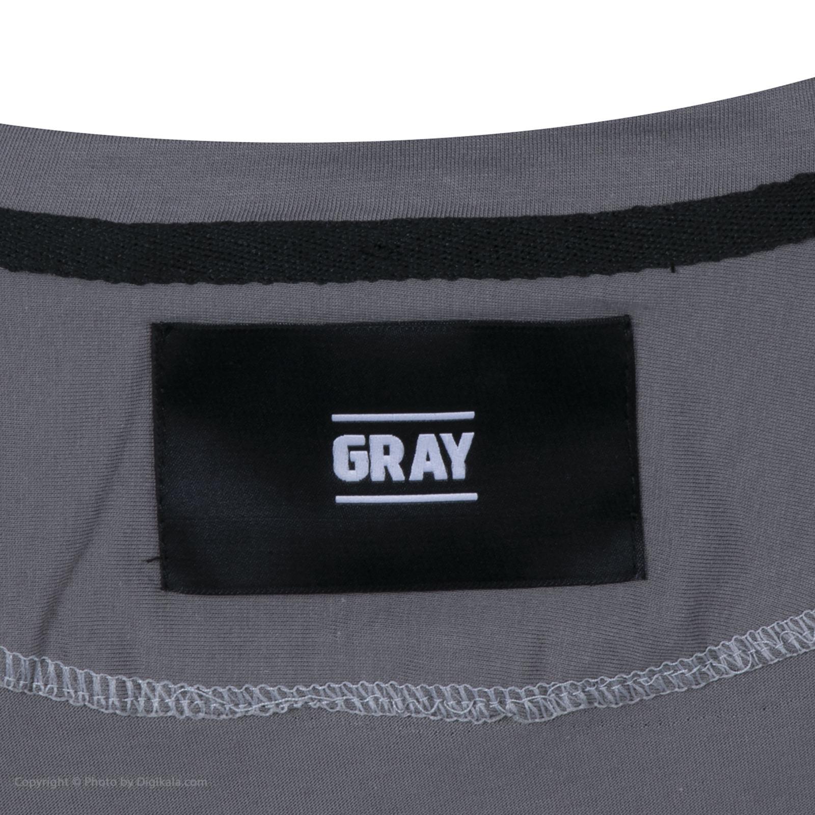 تیشرت آستین کوتاه مردانه گری مدل GW34 -  - 5