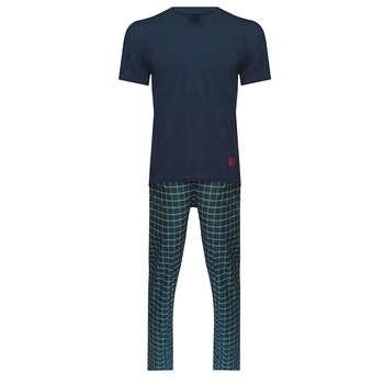 ست تی شرت و شلوار مردانه لباس خونه کد 990920 رنگ سرمه ای