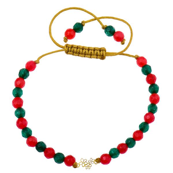 دستبند طلا 18 عیار دخترانه کرابو طرح گل مدل Krd1004