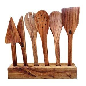 سرویس کفگیر و ملاقه ۶ پارچه مدل سر آشپز