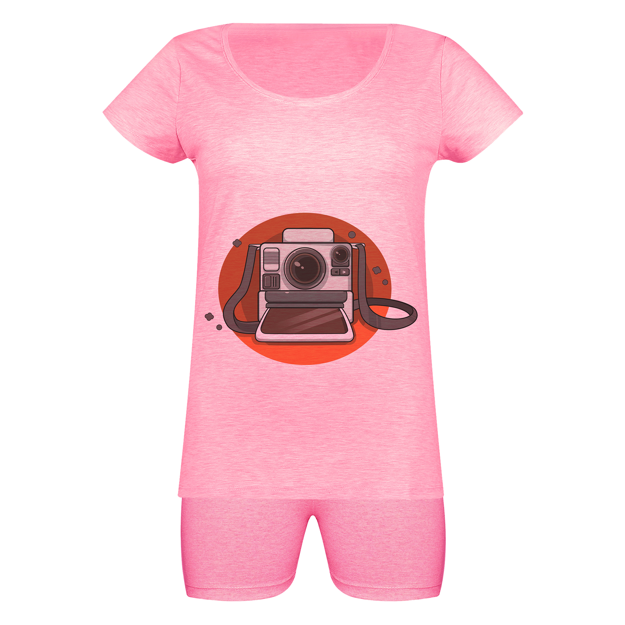خرید                                      ست تی شرت و شلوارک زنانه مدل skmsh000-1304