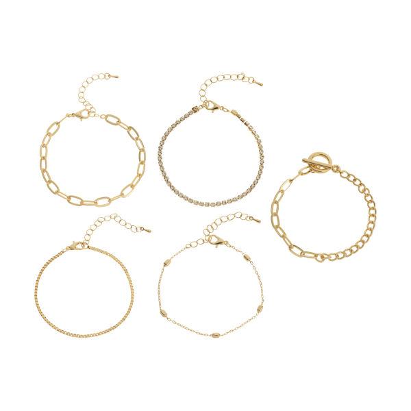 دستبند زنانه پیله مدل MR3 مجموعه 5 عددی