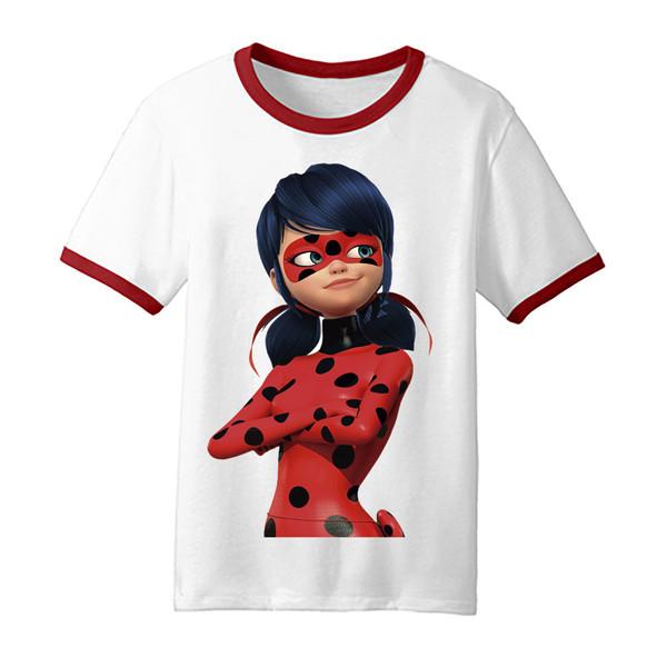 تی شرت بچگانه طرح دختر کفشدوزکی کد TDb2029
