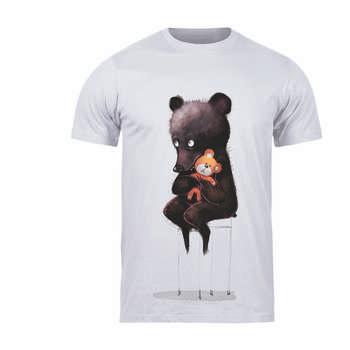 تیشرت آستین کوتاه بچگانه طرح خرس کد 145 T