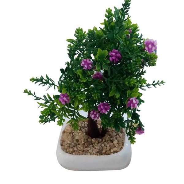گلدان به همراه گل مصنوعی مدل GRB76