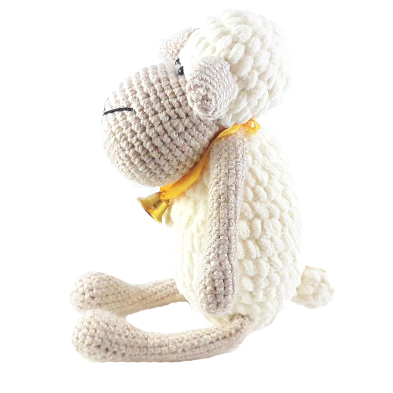 خرید                      عروسک بافتنی مدل گوسفند کد 001