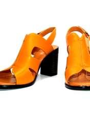 صندل زنانه آر اند دبلیو مدل 654 رنگ پرتقالی -  - 3