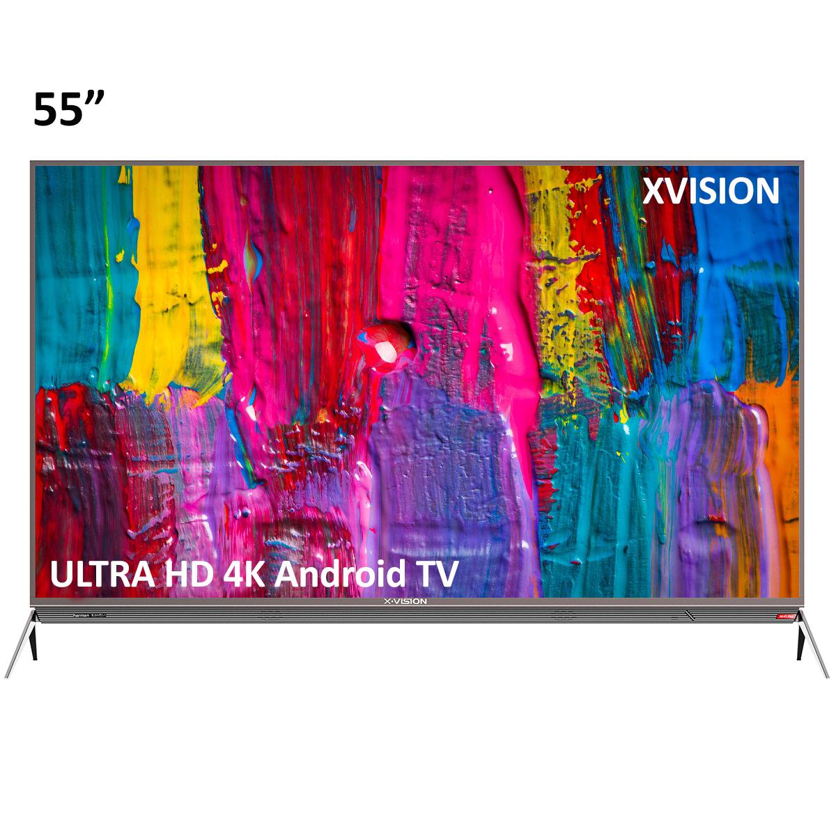 تلویزیون ال ای دی هوشمند ایکس ویژن مدل 55XKU645 سایز 55 اینچ