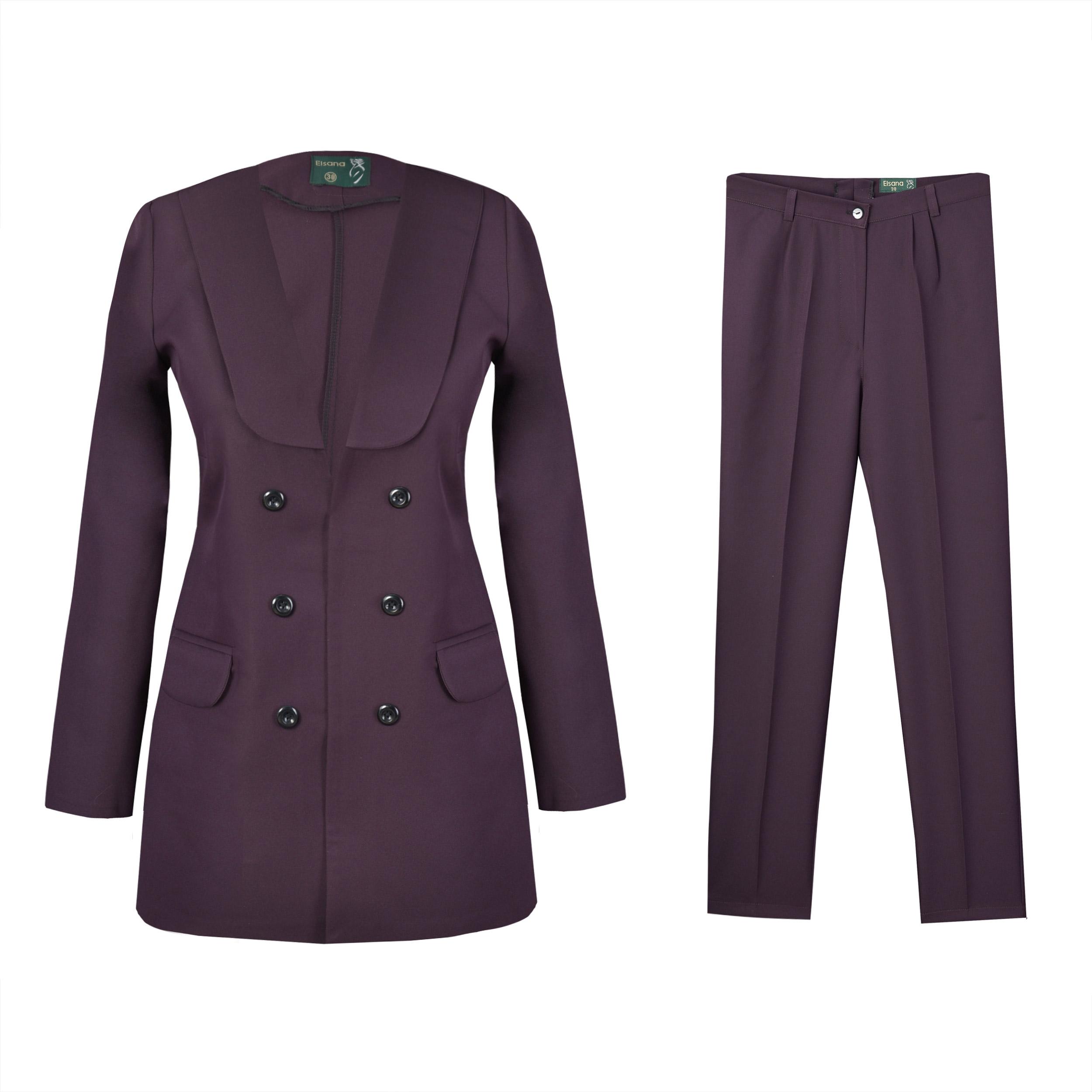 خرید                                     ست کت و شلوار زنانه السانا مدل راما کد 73412