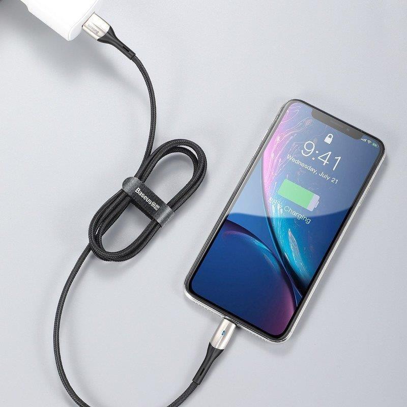 کابل تبدیل USB به لایتنینگ باسئوس مدل HORIZONTAL-CALSP-B1 طول 1 متر main 1 4
