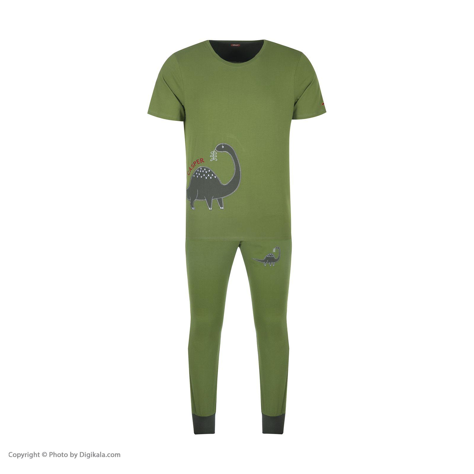 ست تی شرت و شلوارک راحتی مردانه مادر مدل 2041106-42 -  - 3