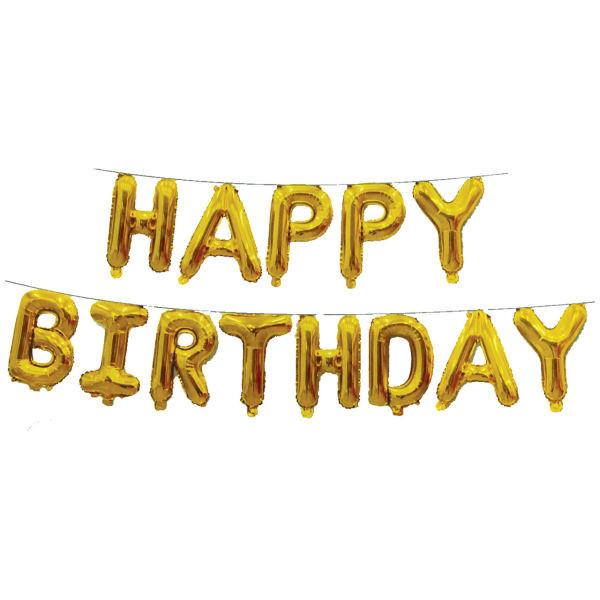 بادکندک فویلی مدل Happy Birthday مجموعه 13 عددی