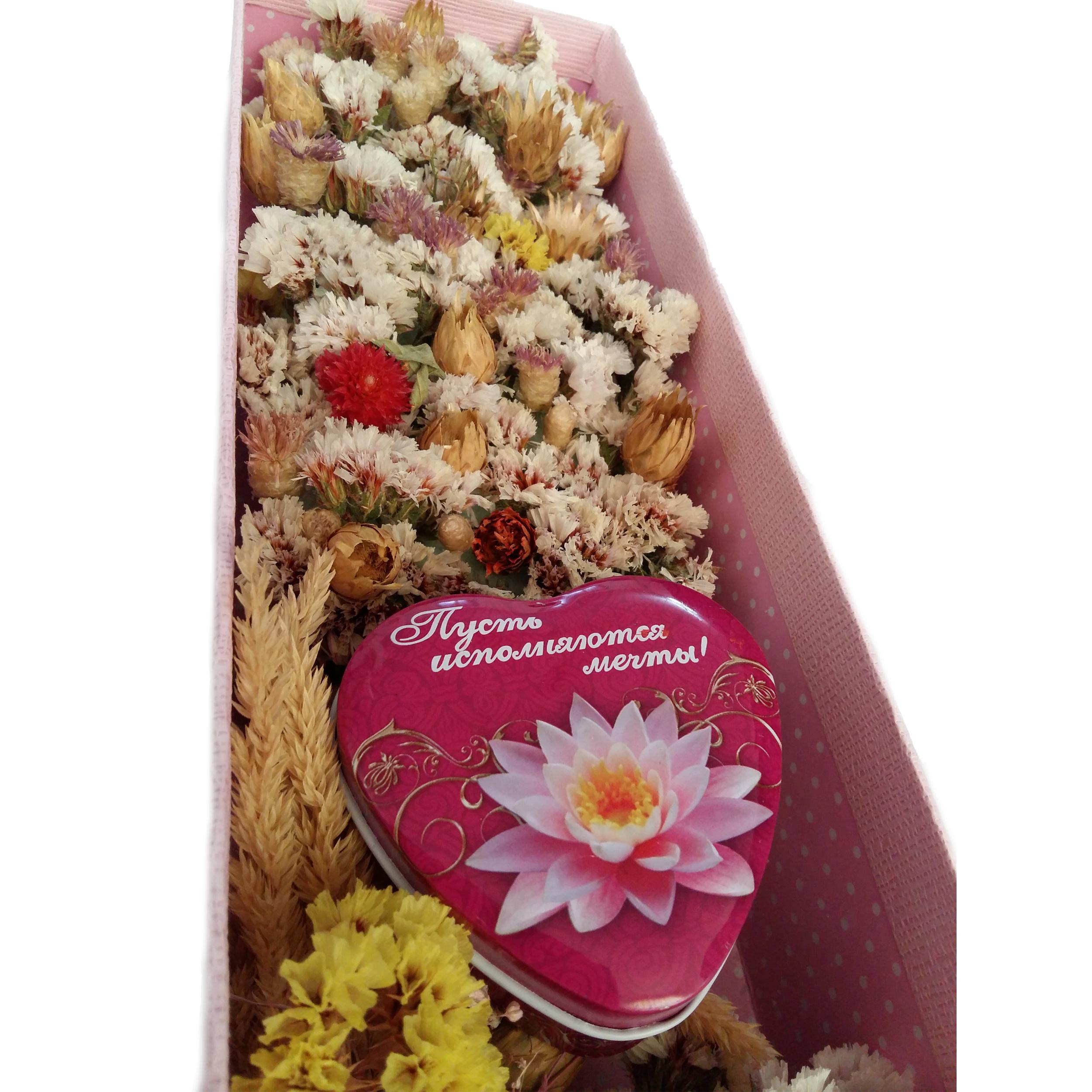 باکس گل خشک مدل شکوفه
