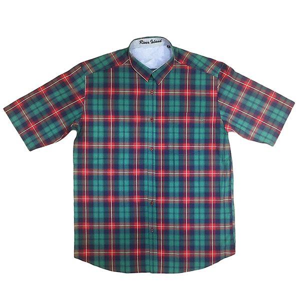 پیراهن آستین کوتاه مردانه مدل چهارخانه کد 04