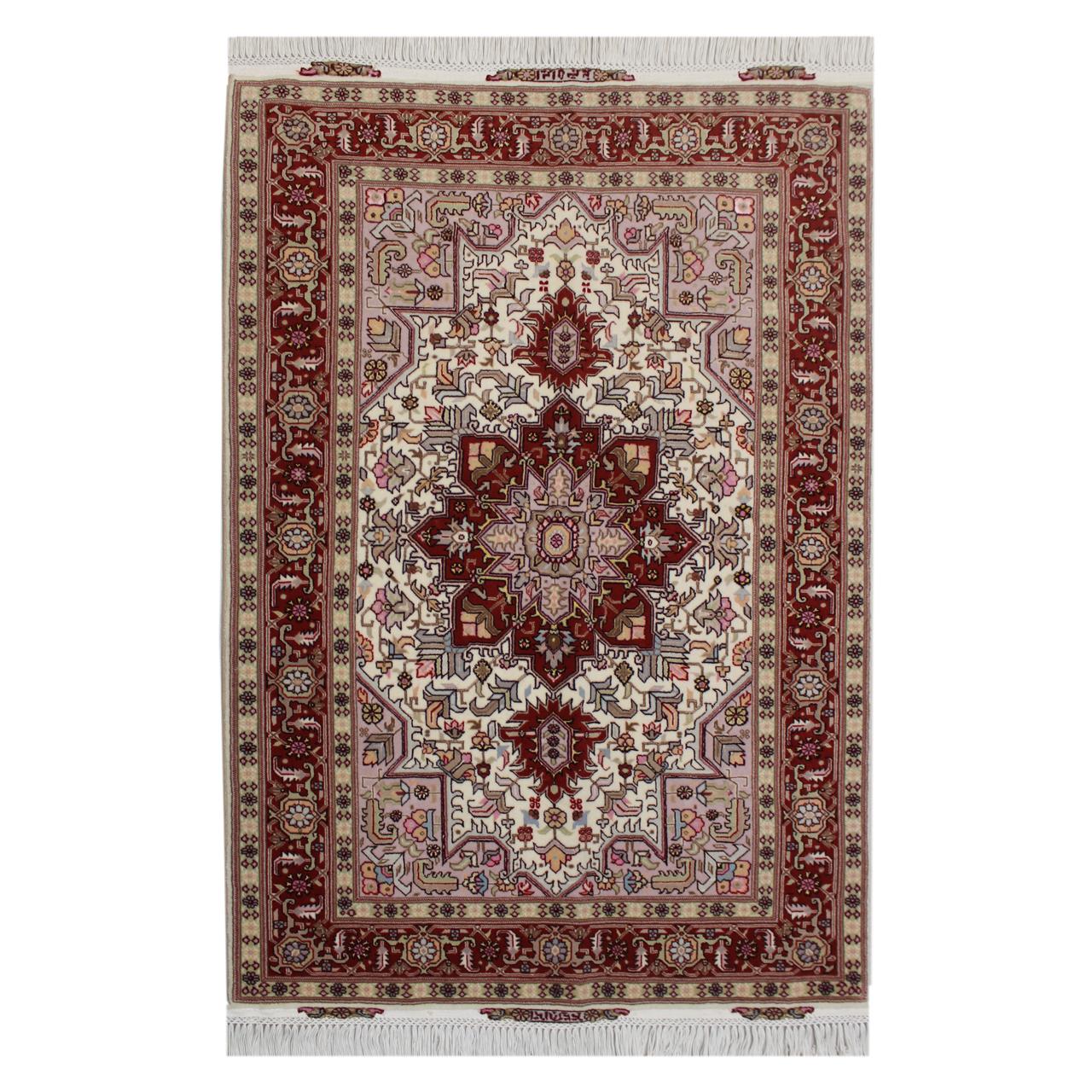 فرش دستبافت یک ونیم متری مدل تبریز  کد 1105723