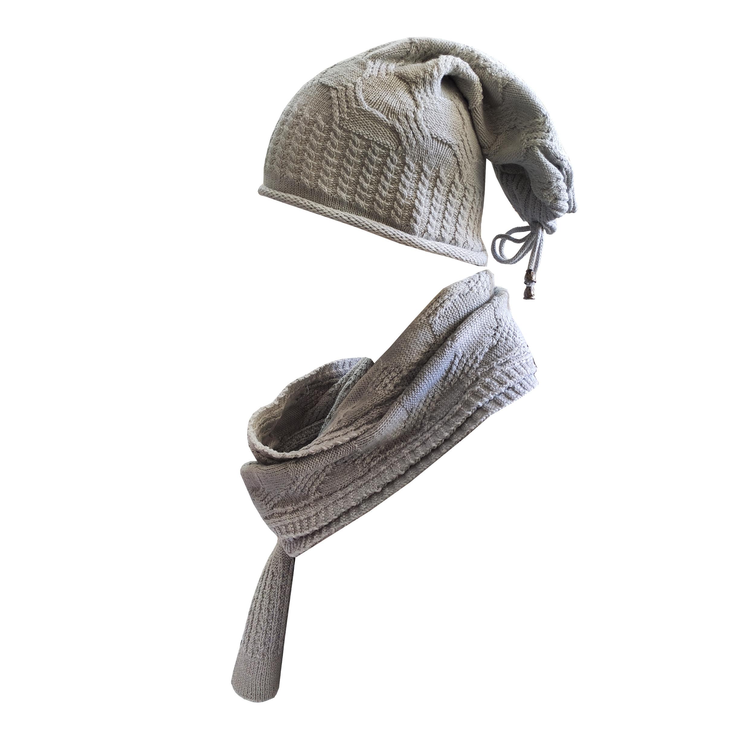 ست کلاه و شال گردن بافتنی پوش آل کد 30657