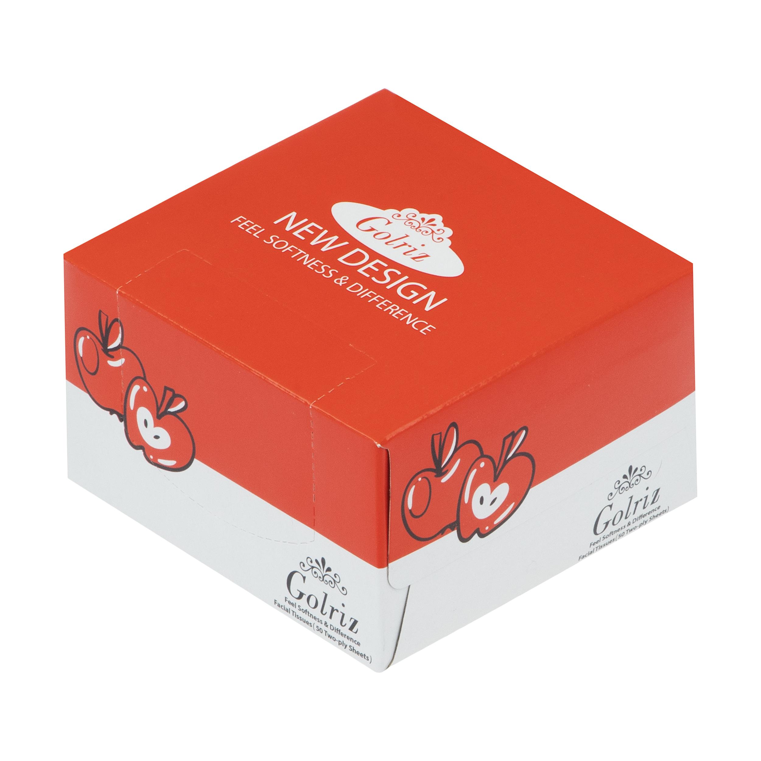 دستمال کاغذی 50 برگ گلریز گلدار ویژه طرح سیب
