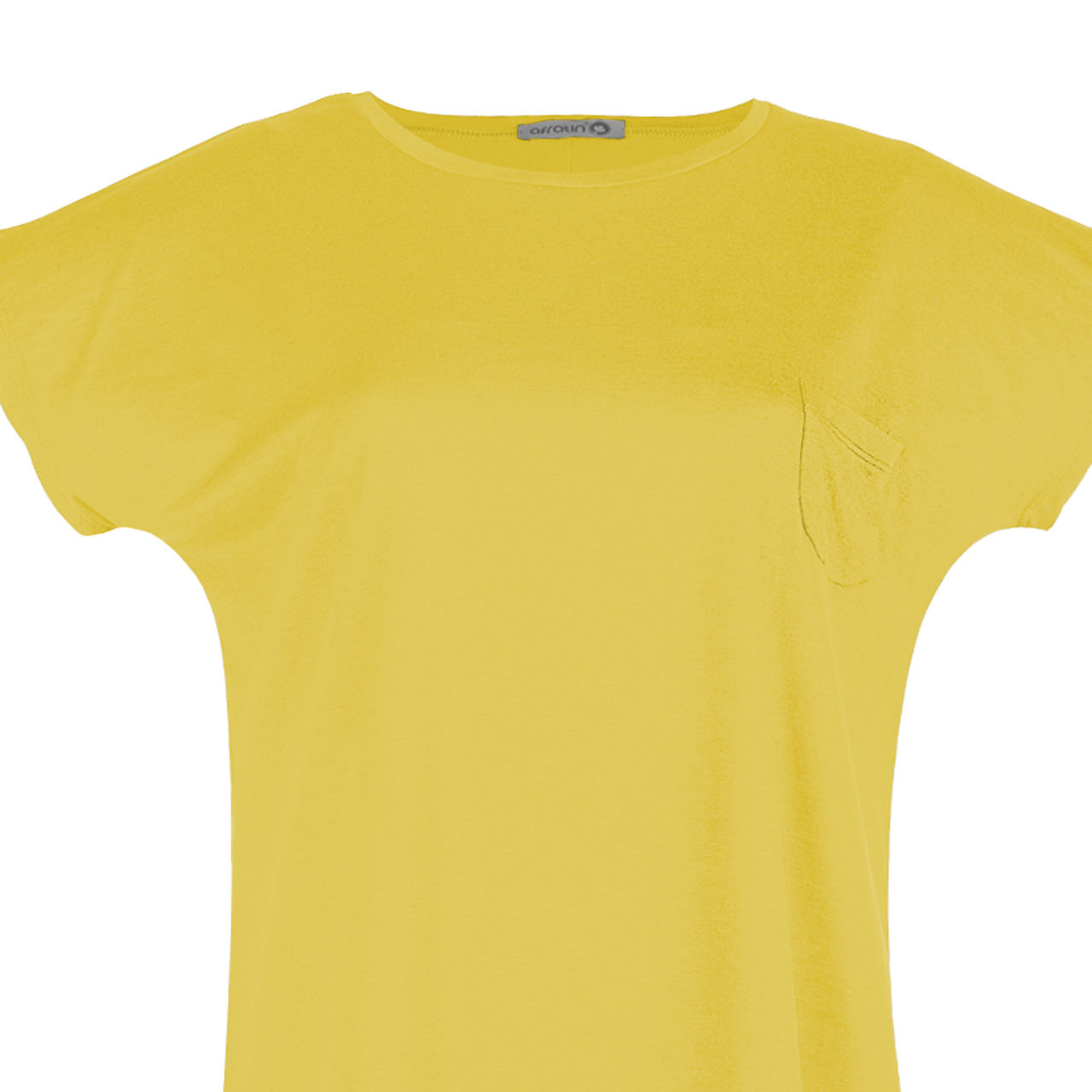 تی شرت زنانه افراتین کد 2517 رنگ زرد -  - 4