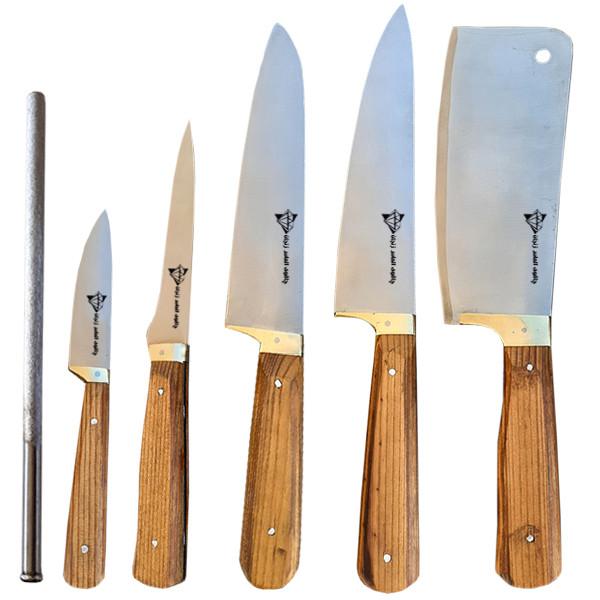 سرویس چاقو آشپزخانه 6 پارچه الماس زنجان مدل 02