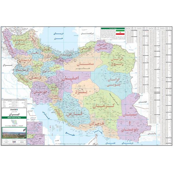 نقشه سیاسی ایران انتشارات ایرانشناسی کد 283