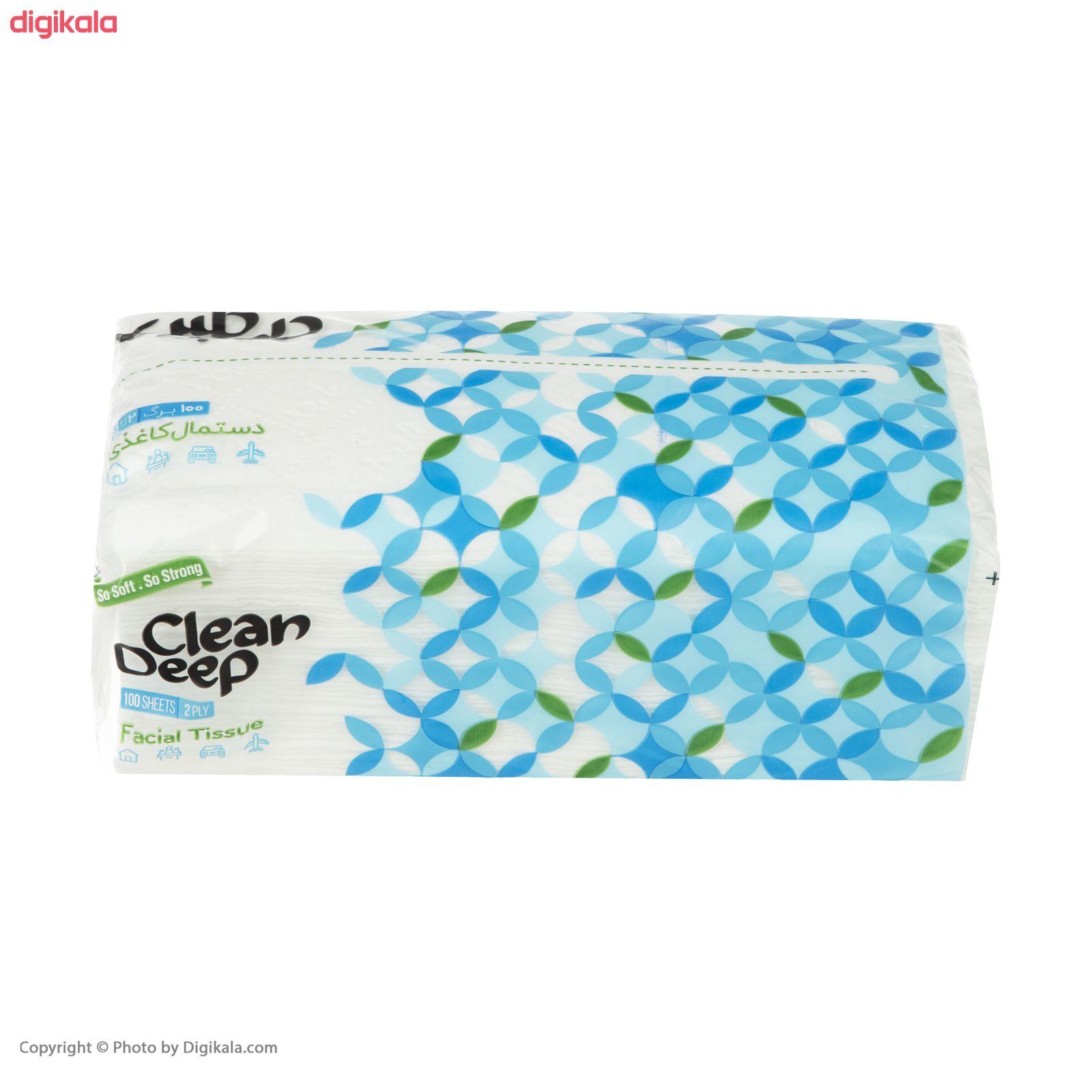 دستمال کاغذی 100 برگ دیپ کلین مدل 01 بسته 10 عددی main 1 2