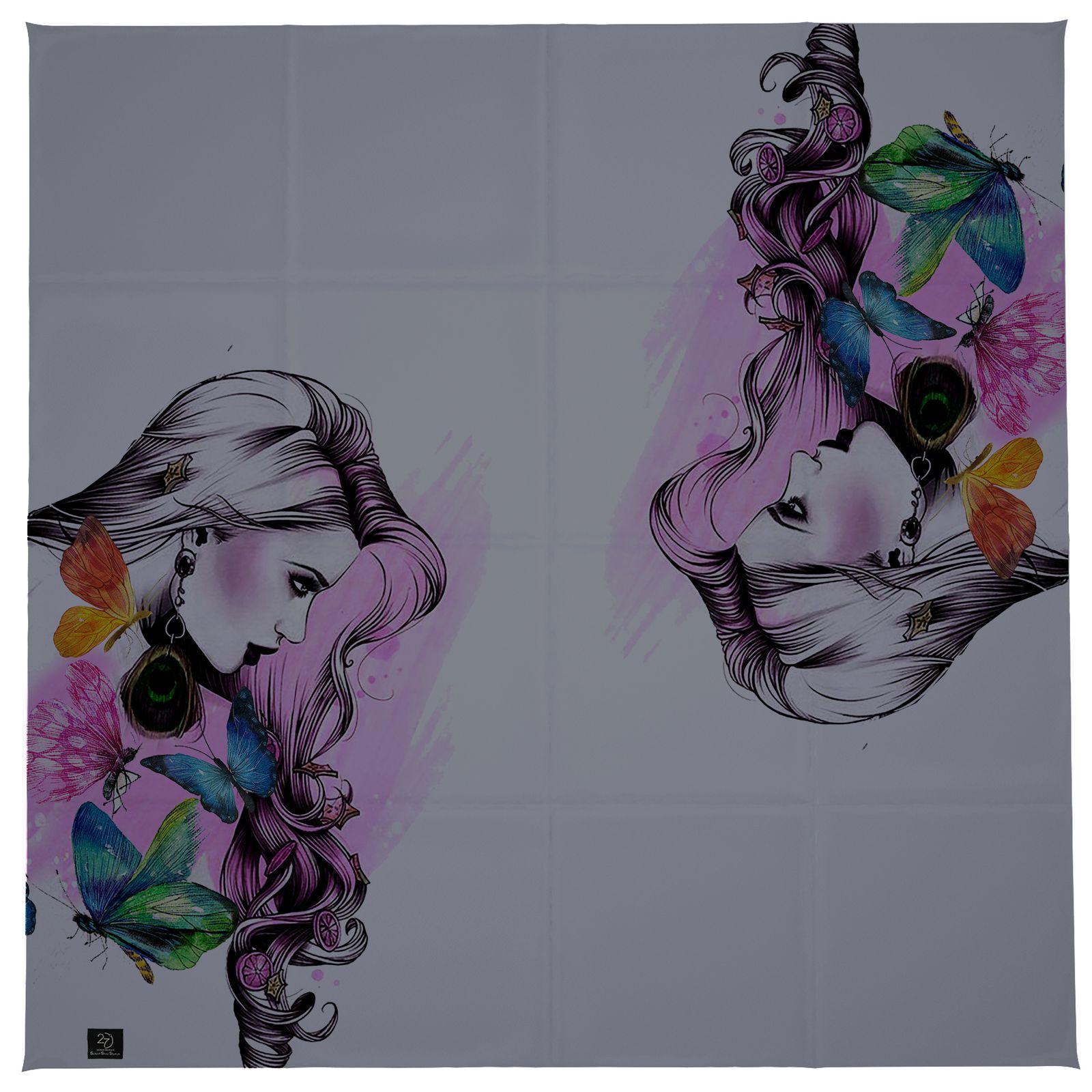 روسری زنانه 27 طرح girl کد H03 -  - 3
