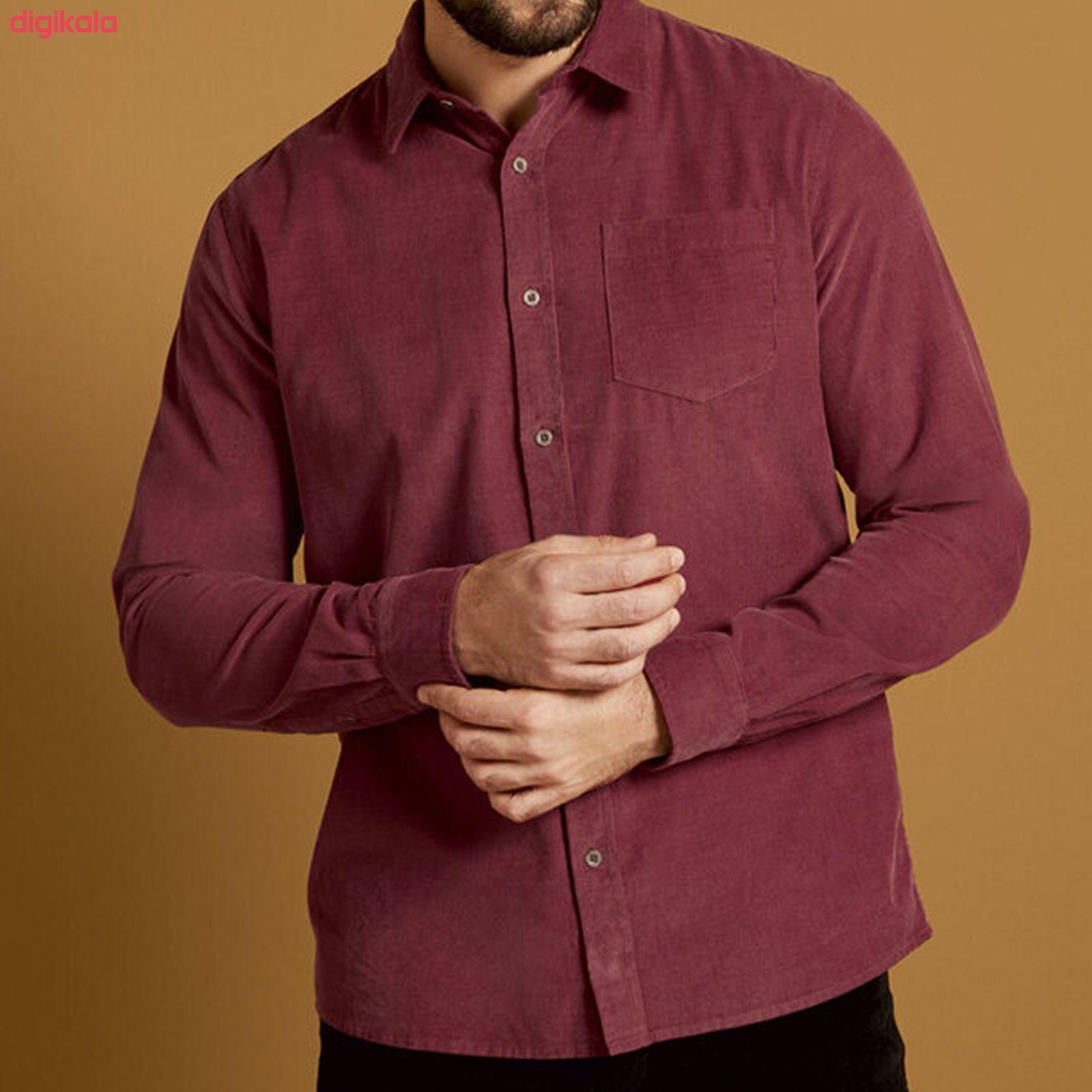 پیراهن آستین بلند مردانه لیورجی مدل 3334472 رنگ قرمز main 1 4