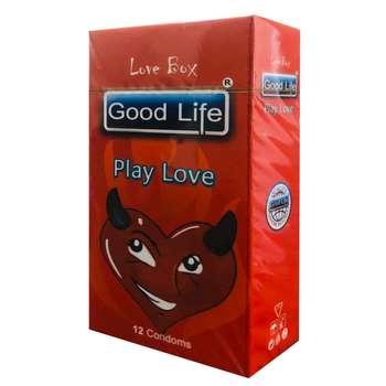 کاندوم گودلایف مدل PLAY LOVE کد GO01 بسته 12 عددی