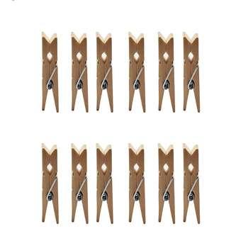 گیره دکوری مدل چوبی بسته 12 عددی