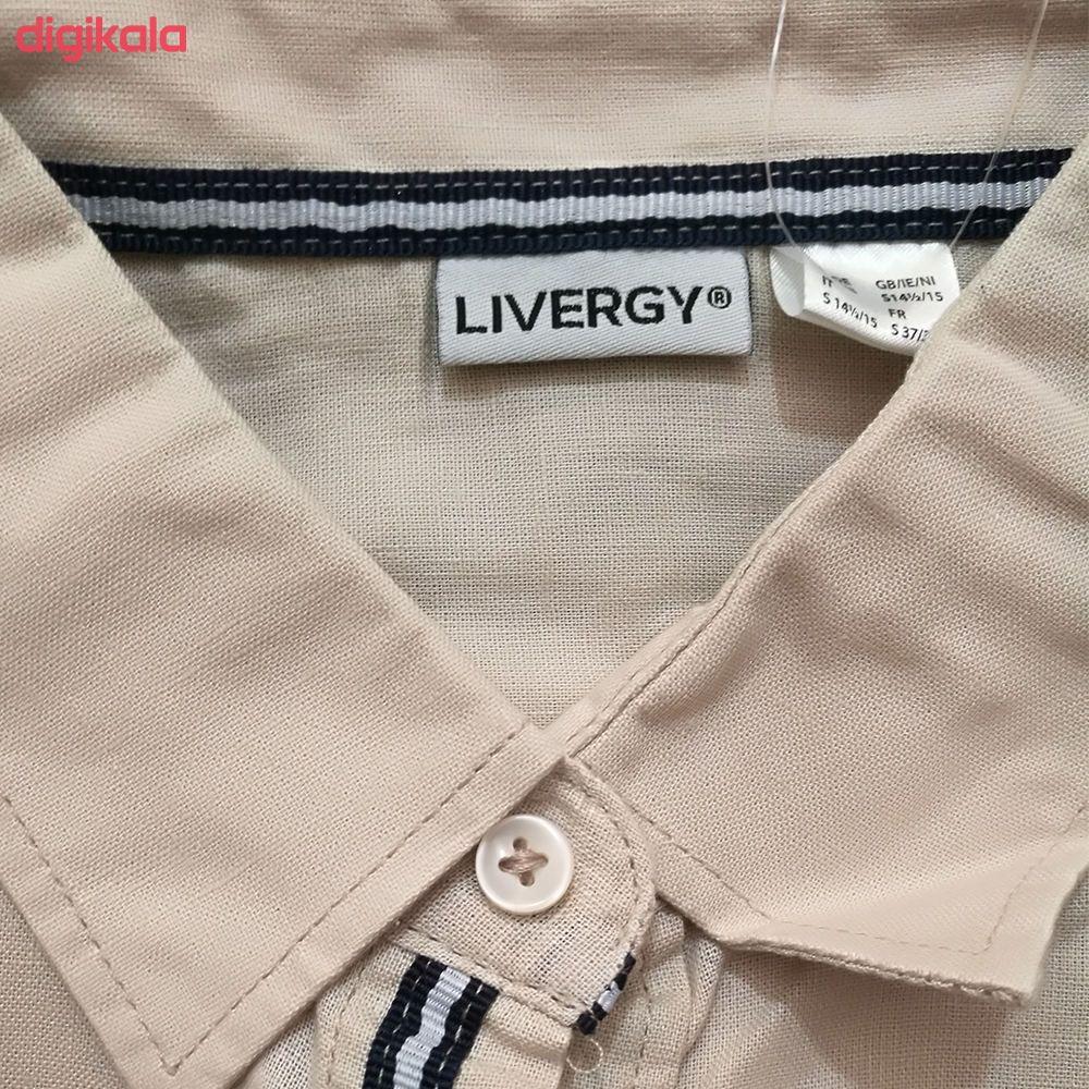پیراهن آستین کوتاه مردانه لیورجی مدل 311475 main 1 1