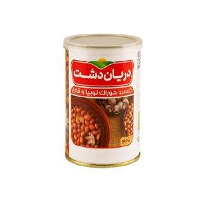 کنسرو خوراک لوبیا چیتی با قارچ دریان دشت - 420 گرم
