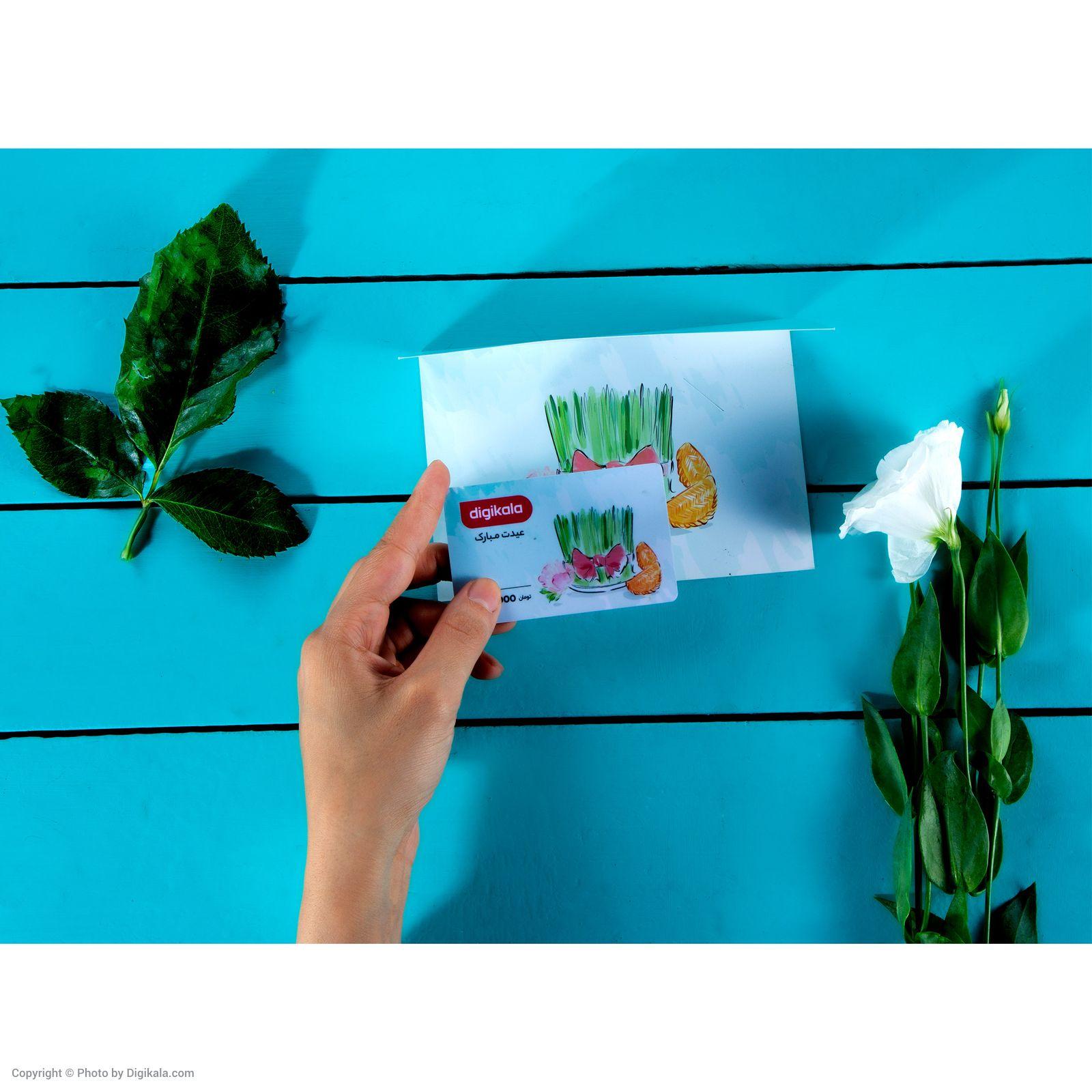 کارت هدیه دیجی کالا به ارزش 50,000 تومان طرح سبزه  main 1 4