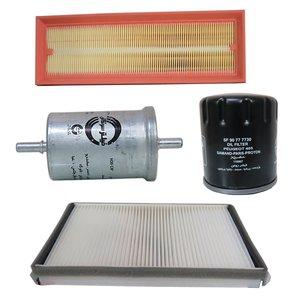 فیلتر هوا خودرو سرکان مدل SF939 به همراه فیلتر روغن و فیلتر کابین و فیلتر بنزین