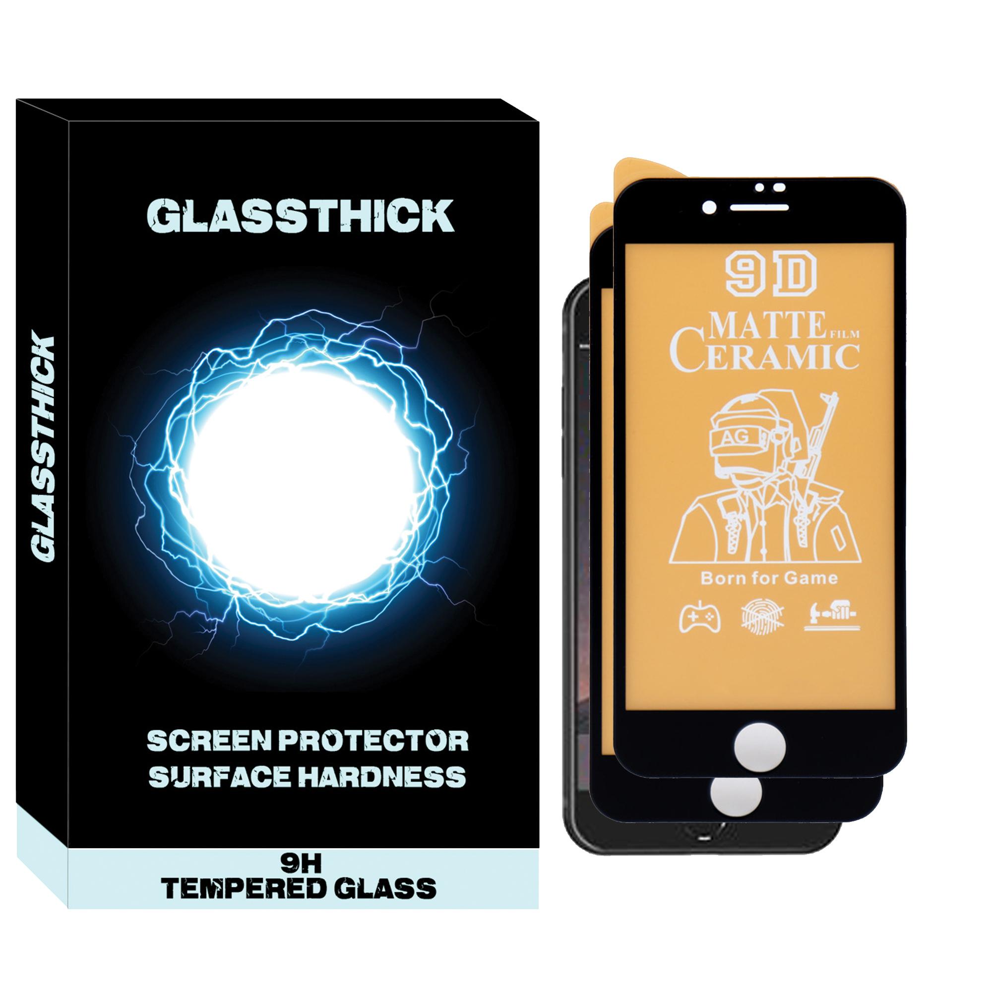 محافظ صفحه نمایش مات مدل MCG-02 مناسب برای گوشی موبایل اپل IPHONE 7 بسته دو عددی