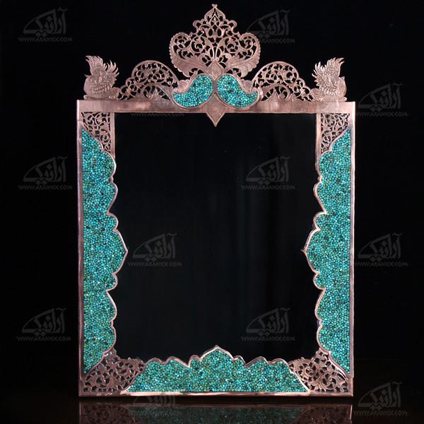 آینه فیروزه کوب  رنگ مسی طرح مشبک مدل 1509900002