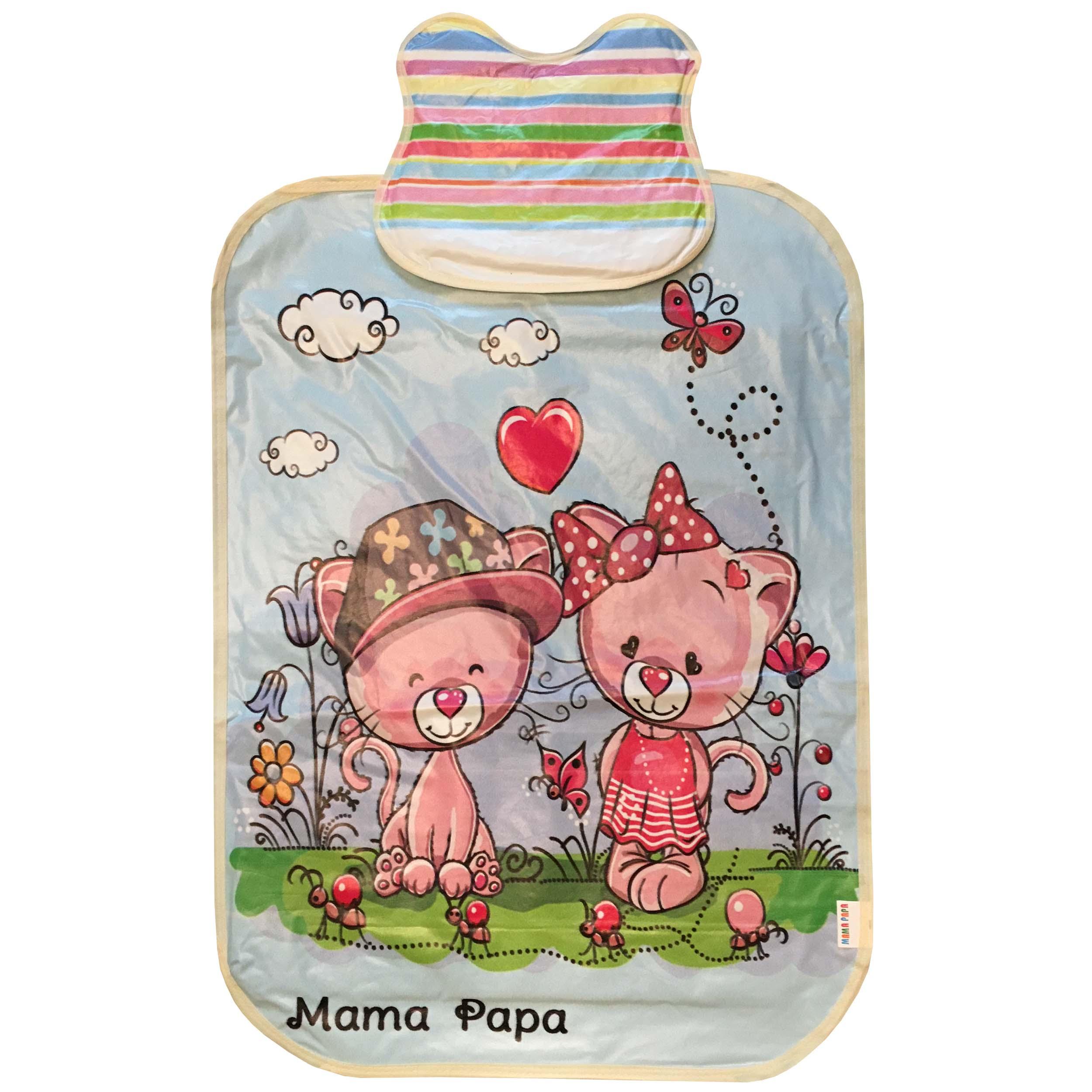 زیرانداز تعویض نوزاد ماما پاپا مدل گربه کد 1