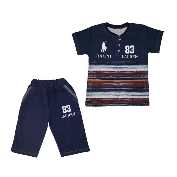 ست تی شرت و شلوارک پسرانه کد Z-01